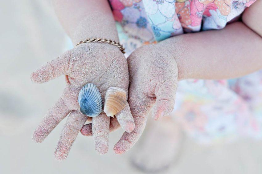 Shellbells Photography sandy hands shells