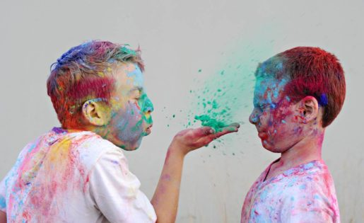 sunshine coast family Shellbells Photography coloured powder fun