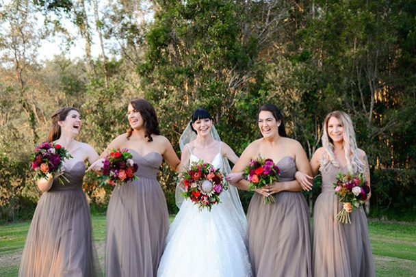 Sunshine Coast Wedding Photographer Bridesmaids at Pelican Waters Golf Club