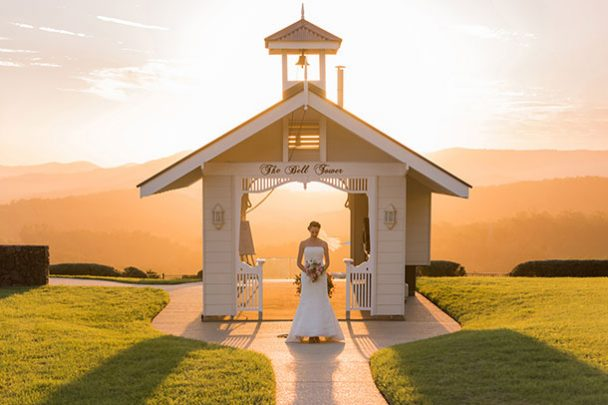 wedding old dairy maleny sunset hinterland